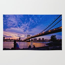 The Sunset of Hometown - NYC  Rug