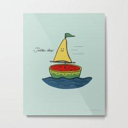 Tortilla ship Metal Print