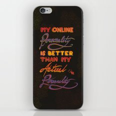 Online Personality iPhone & iPod Skin