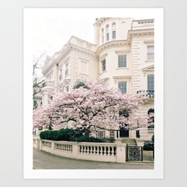 Spring in Notting Hill, London Art Print