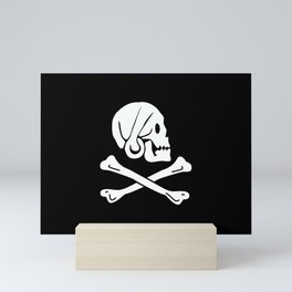 Pirate Flag Skull and Crossbones Jolly Roger Mini Art Print