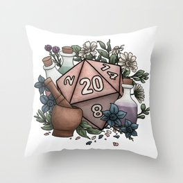 Alchemist D20 Tabletop RPG Gaming Dice Throw Pillow
