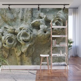 Antique Marble Roses Flowers Sculpture Detail Wall Mural