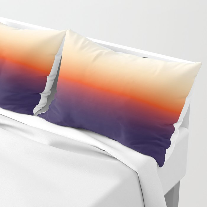 Infrared Orange & Ultraviolet Purple Sunrise Pillow Sham