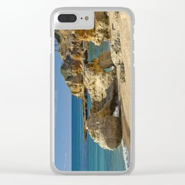 rock formation on Olhos d'Agua beach, Portugal Clear iPhone Case