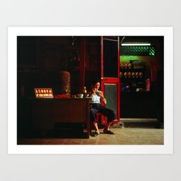 Lunch at the temple, Ho Chi Minh City, Vietnam Art Print