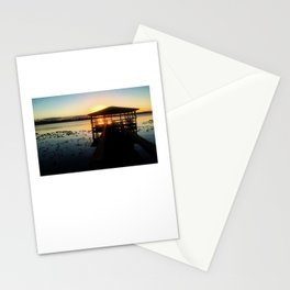 Dock Sunset Stationery Cards