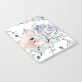 Pretty Succulents by Nature Magick Notebook