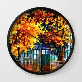Tardis Alone Wall Clock