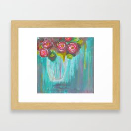 Roses are Red, or Pink, or White Framed Art Print