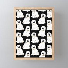 Staffordshire Dog Figurines No. 1 in Black Framed Mini Art Print