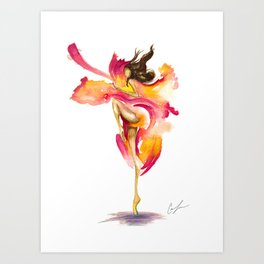 Dance on Fire Art Print