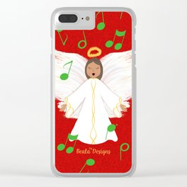 Christmas Angels Clear iPhone Case