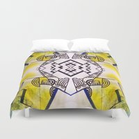 birdy Duvet Covers featuring birdy by Ashley James