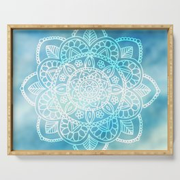 Blue Sky Mandala Serving Tray