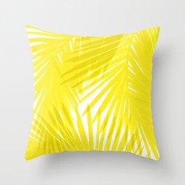 Palms Yellow Throw Pillow