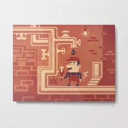 Mario at work Metal Print