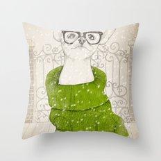 Hipster Chiuaua Throw Pillow