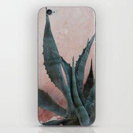 Pink Blue Cactus iPhone Skin