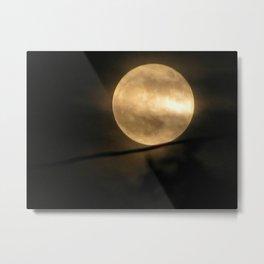 Balancing the Moon Metal Print