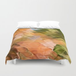 Cinnamon Mosaic Abstract Art Duvet Cover