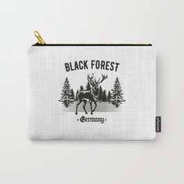 Black Forest Germany Deer with Trees Carry-All Pouch