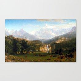 Albert Bierstadt The Rocky Mountains, Lander's Peak Canvas Print
