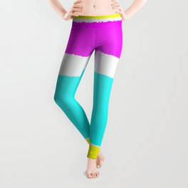 Spring Themed Candid Pastel Colored Stripes Artwork Leggings