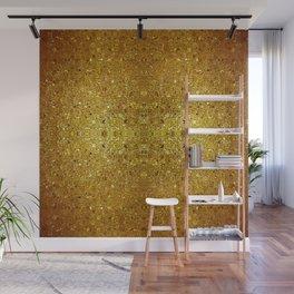 Deep gold glass mosaic Wall Mural