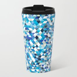 Icy triangles Metal Travel Mug