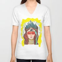 third eye V-neck T-shirts featuring third eye by ivette mancilla