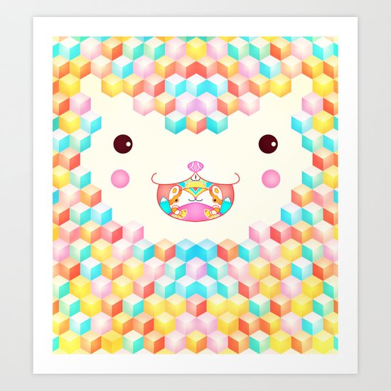 Cubes Cubes Cubes Art Print