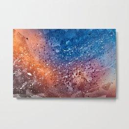 Vibrant Acrylic Texture Metal Print