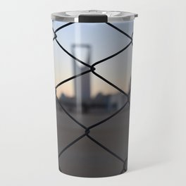 Kingdom Center in Saudi Arabia Travel Mug