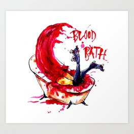 Blood Bath Roller Derby Art Print