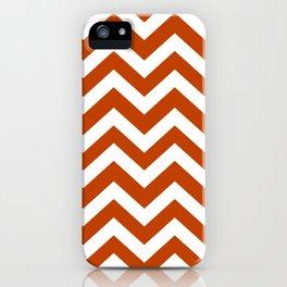 Mahogany - brown color - Zigzag Chevron Pattern iPhone Case