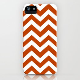 Mahogany - brown color - Zigzag Chevron Pattern iPhone Case