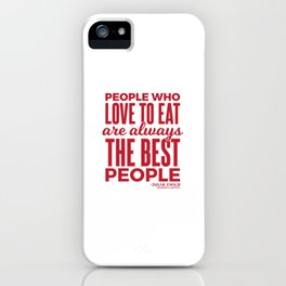 The Best People (Red) iPhone Case