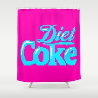 coke Shower Curtains featuring COKE >>> 1991 by Mark Mayr