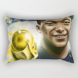 KYLIAN MBAPPÉ PSG football player, world cup champion, best young french football player star portra Rectangular Pillow