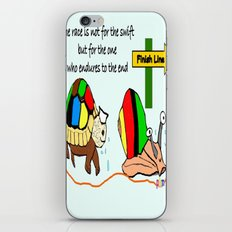THE RACE - the turtle and the snail iPhone & iPod Skin