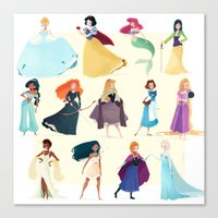 princess Canvas Prints featuring Princess by Chabe Escalante