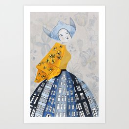 Dutch Girl Art Print