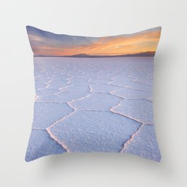 II - Salt flat Salar de Uyuni in Bolivia at sunrise Throw Pillow