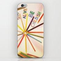 childish gambino iPhone & iPod Skins featuring STAY ALIVE BE CHILDISH II by Pio Timoko