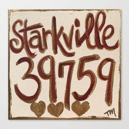 Starkville MS 39759 Canvas Print