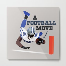 A Football Move - Dez Bryant Metal Print