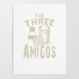 The Three Amigos Cocktail Novelty Drink Poster