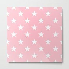Stars (White/Pink) Metal Print