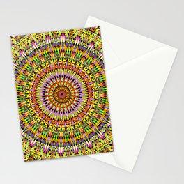 Happy Hypnotic Petal Mandala Stationery Cards